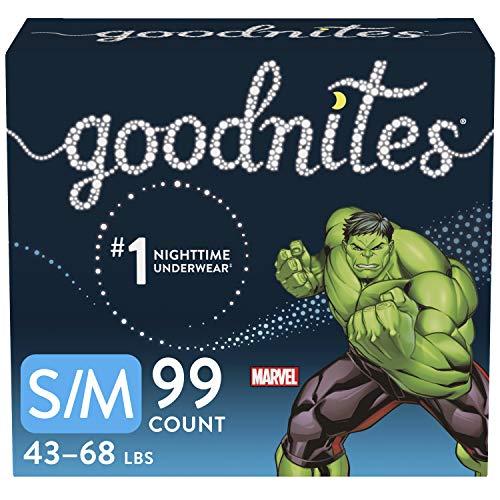 Goodnites Nighttime Bedwetting Underwear, Boys' S/M (43-68 lb.), 99 Ct