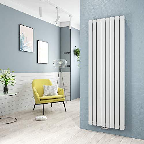Heizkörper Flach Design Vertikal Paneelheizkörper 1800 x 620 mm Weiß Doppellagig Mittelanschluss Heizung