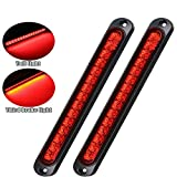 Pseqt 10' 15 Led Trailer Tail Light Bar Stop Turn Tail Lights Assembly Third Brake Strip Waterproof