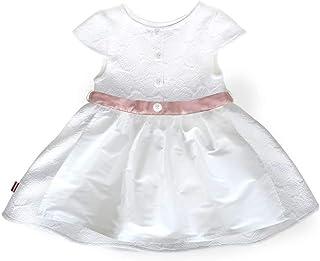 MoGo Baby - Mädchen Tauf-Dirndl weiß rosa, WEIß/ROSA,