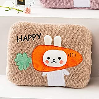 Hot Water Bottle 2 liters Thick Knit Cover Super Soft and Durable Thermos (Color : C) Detazhi (Color : C)