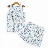 Conjuntos de Pijamas Lindos de Talla Grande para Mujeres sin Mangas Pantalones...