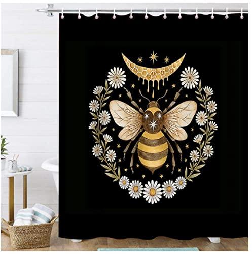 Schönes Muster 3D-Druck Insekten Duschvorhang Biene Wasserdicht Badezimmer Dekoration Dekoration