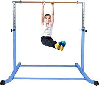 Gymnastics Bar for Kids Adjustable Horizontal Junior Training Kip Bars with Mat Optional Ideal for Gymnasts 1-4 Levels for Home