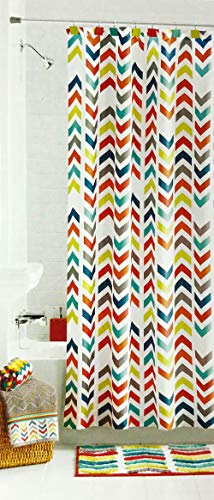 "Mainstay Multi Color Chevron Fabric Shower Curtain (Multi Color Chevron, 70"" x 72"")"