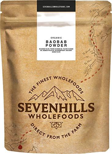 Sevenhills Wholefoods Organic Raw Baobab Powder 500g, Wild-Harvested in Africa