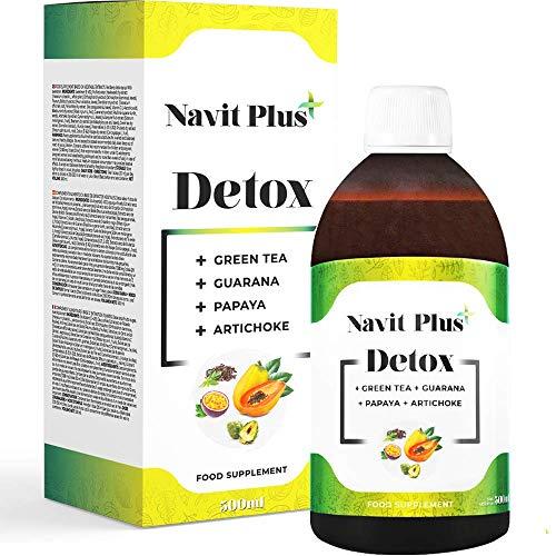 Detox adelgazante | Diurético potente natural líquido 500ml sabor frutos rojos | Formula detox drenante, antioxidante | Eliminación de toxinas | Te verde, guaraná, papaya, alcachofa | VEGANO