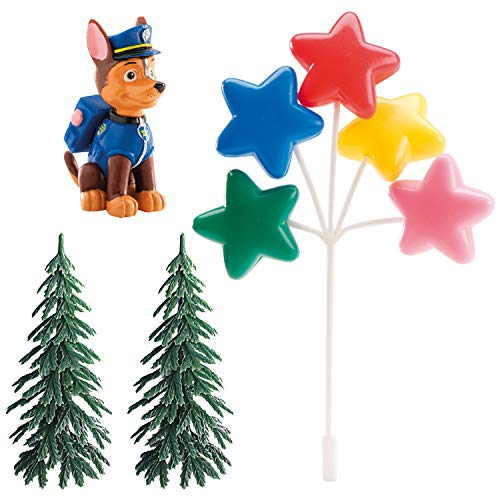 PAT PATROUILLE - Muñecos para Tartas Infantiles de Chase Patrulla Canina