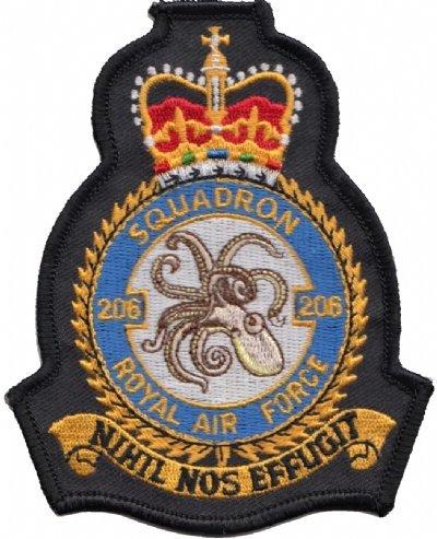 No. 206(R) squadrone Royal Air Force RAF Crest mod patch ricamato