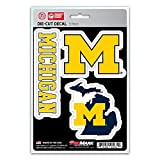 NCAA Michigan Wolverines Team Decal, 3-Pack