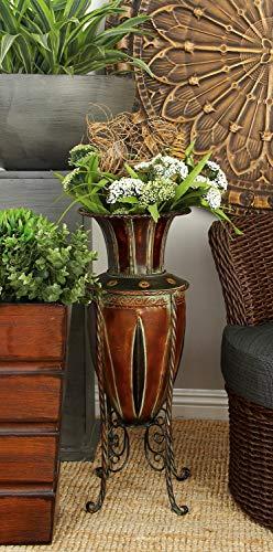 "Deco 79 96645 Metal Vase, 27"" x 10"""