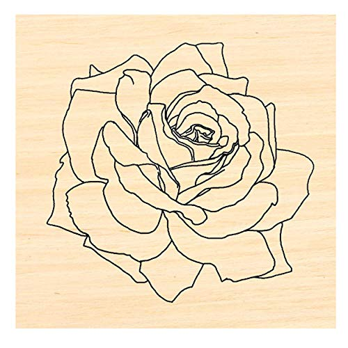 P106 Rose Rubber Stamp 2x1.75'