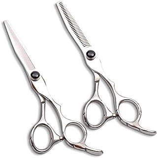 Barber Scissors Professional Hairdressing Thinning Scissors Set Left-Handed 440C Hair Scissors Plum Handle 6 0 Inch 5.5 In...