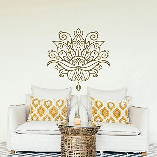 Lotus Wall Mandala Yoga Vinilo Pared Patrón marroquí Estilo Dormitorio Decoración Lotus Wall