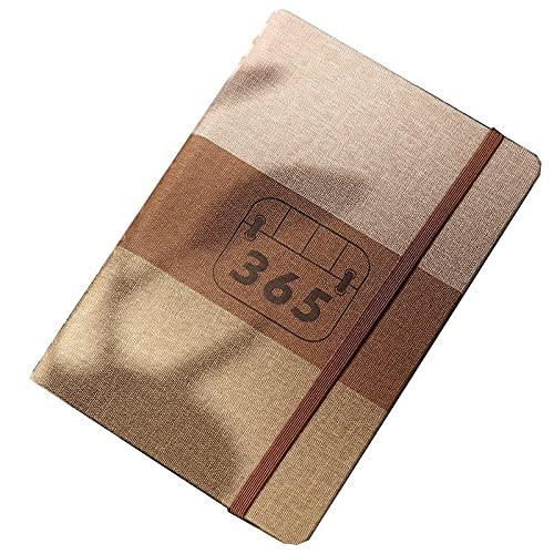 FACHAI Agenda A5, diario de piel suave, planificador de vista semanal, diario de planificación, 400 páginas, páginas de 80 g/m², 21 x 14,8 cm