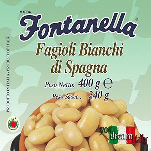 Fagioli Bianchi di Spagna - 600 Gr. in Vetro - Cartone 12 Pezzi