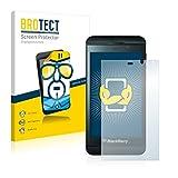 BROTECT Schutzfolie kompatibel mit BlackBerry Z10 (2 Stück) klare Bildschirmschutz-Folie