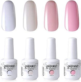 Vishine Nail Art UV LED Lamp Gel Polish Long-lasting Manicure Kit 4 Colors Set C183