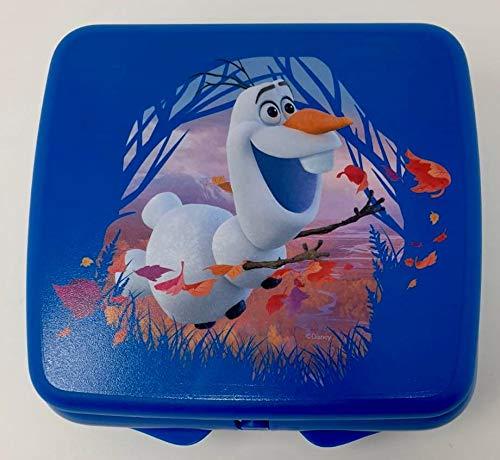 Tupper TUPPERWARE Disney Eisprinzessin Olaf Schneemann Frozen to Go Twin blau Jungs Mädchen Schule Brotdose Box Behälter Kindi Twin Kind Kindergarten Schule A126 Sandwichbox