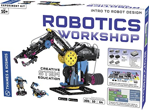 Thames & Kosmos 620377 Robotics Workshop, Models to Be Made, Experiment Kit, Ages Themse & Kosmos Robotik Werkstatt, Modelle zum Herstellen, Experimentierset, ab 10 Jahren, Mehrfarbig