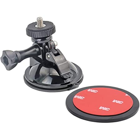 Woleyi Suction Cup Mount For Gopro Vehicle Camera With 3m Adhesive Disc For Gopro Hero 2018 Fusion 7 6 5 4 Session 3 3 Ation Cameras Perfect For Windscreen And Window Sport Freizeit