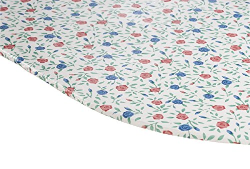 Fox Valley Traders Buds 'n Blooms Vinyl Elasticized Table Cover 42' x 68' Oval/Oblong