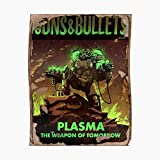 Fallout 4 Guns and Bullets Plasma Weapons of Tomorrow Poster Poster Small (16.4 x 21.3 in) | Posters Wall Art for College University Dorms, Blank Walls, Bedrooms | Gift Great Cool Trendy Artsy Fun
