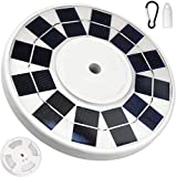 128 LED Solar Flag Light JACKYLED 2 Brightness Modes 2500mAh Solar Powered Flag Pole Lights Waterproof Flagpole Downlight Night Lighting for 15 to 25 ft Topper Dusk to Dawn Auto on/Off