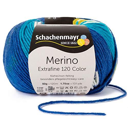 Schachenmayr Merino Extrafine Color 120 9807553-00493 amsterdam color Handstrickgarn, Schurwolle