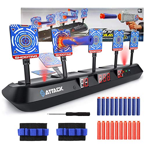 TaimeiMao Digitale Zielscheibe für Nerf,Elektrisches Schießziel,Elektronische Digitale Zielscheibe,Elektrische Punktzahl Ziel,Elektro-Schießscheiben,Elektrische Ziel,5 Ziele & 3 Spielmodi