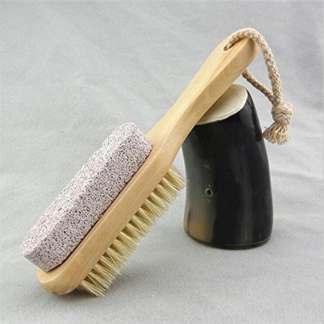 付属品長さもっと少なくBigmind 足軽石の足爪ブラシ 角質除去 天然毛 足爪 かかと削り フット用品 ブラシフットケア かかとキレイフットブラシ