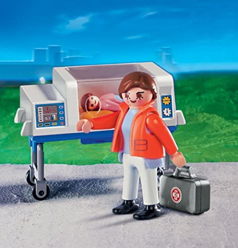 PLAYMOBIL 225 - Baby-Not tin mit Inkubator