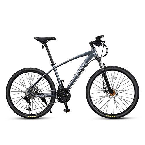 JKCKHA Bicicleta De Montaña para Jóvenes/Adultos, Cuadro De Aleación De Aluminio, 27 Velocidades, Ruedas De 26 Pulgadas, para Una Variedad De Ocasiones, Gris