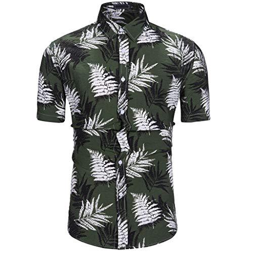 ZODOF Camisa Hawaiana Camisetas Hombre Manga Corta Camisas de Hombre Verano Camisas Hombre Manga Corta Camisa Blusa Superior