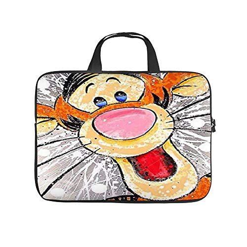 Tigger Laugh Laptop Bag Protective Case Tote Notebook Computer Pocket Case Carrying Bag with Zipper 10-17 in