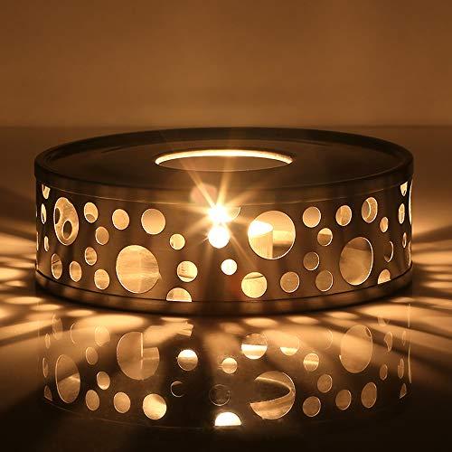 Glastal Scalda Teiera in acciaio inox fornello a candela per teiere