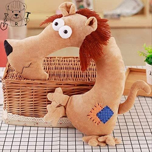 siyat Nette Kinder Reise Nackenkissen Giraffe Plüsch Spielzeug Kopfstütze Kissen Cartoon Gefüllte Tierform Kissen - 30 35 cm Weiße Dekoration Jikasifa