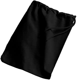 SHOPINUSA Lowest Price!( 3 PACK) Cotton Shoe Bags with Drawstring, Travel Shoe Bag and Protector ( BLACK)