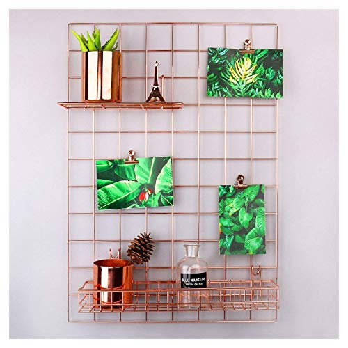 "Rumcent mesh Grid pannello, decorazione da parete/foto parete/Wall Art display/organizer, memo board Wall Art Decor/display & organizer rose oro/ 25.6""L x 17.7\""W"