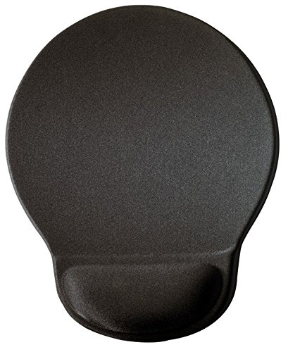 Durable 574858 - Mouse Pad Ergotop With Gel, Tappetino per Mouse, Poggiapolso Ergonomico in Gel, Superficie in Tessuto, Antiscivolo, 230 x 26 x 260 mm, Carbone