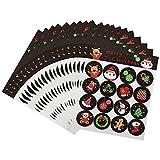 Pegatinas Navideñas Etiquetas Adhesivas Navidad Stickers 320 Navidad Etiqueta Pegatinas Etiquetas Autoadhesivo Papá Noel Muñeco de nieve Árbol de Navidad Festivales Festivos Cumpleaños Regalo