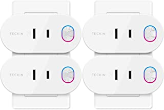 TECKIN Wi-Fi スマートプラグ 日本語版Alexa Google Home対応 遠隔操作 音声コントロールト エネルギー モニタリング スマートコンセント ソケット 2.4GHz