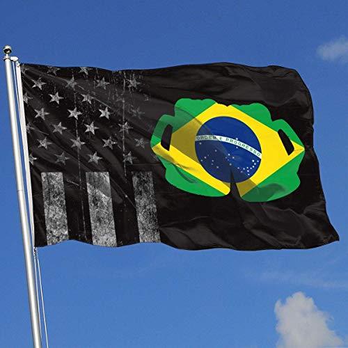 AOTADer Outdoor Flags Abgenutzte USA Flagge Brasilien Flagge Bier Flagge für Sportfan Fußball Basketball Baseball Hockey