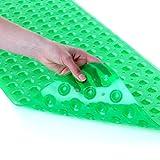 SlipX Solutions Il Tappetino da Bagno Extra Lungo aggiunge trazione Antiscivolo a vasche e docce - 30% in più Rispetto ai tappetini Standard! (200 Ventose, 99 cm di Lunghezza, Verde)