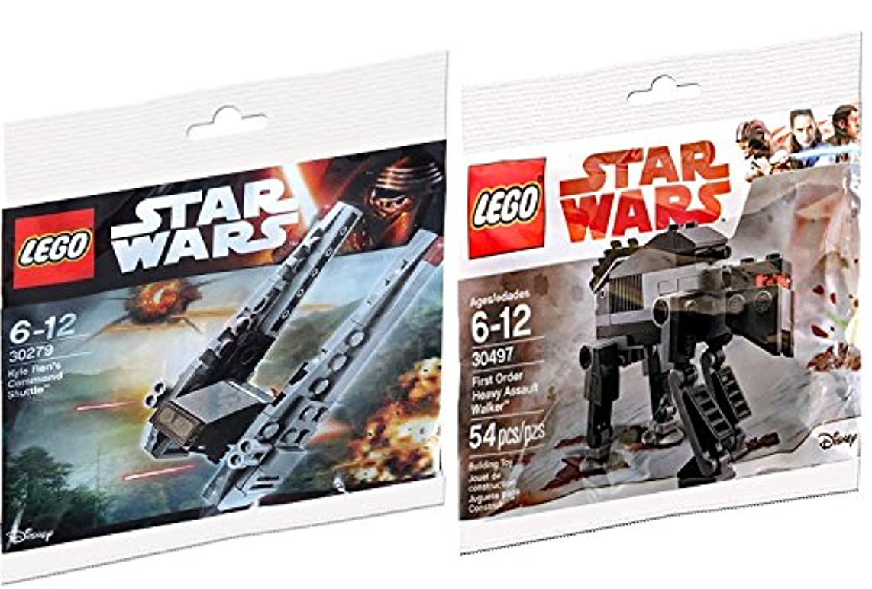SW Ships Lego Star Wars First Order Heavy Assault Walker 30497 Last Jedi & Kylo Ren's Command Shuttle Vehicle 30279 Polybag edition Building Set