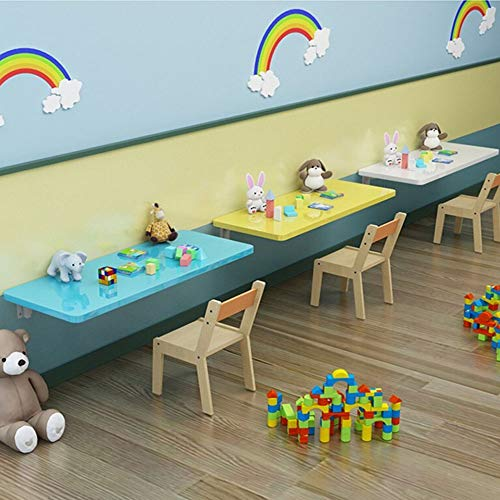 NWHJ Mesa Plegable de Pared Mueble Infantil Colorido Mesa para Comer Escritorio de Estudio Simple, Mesa de Pared Abatible 50cm,60cm,70cm,90cm