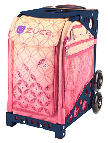 Learn More About ZUCA Sunset Sport Insert Bag and Navy Blue Frame with Flashing Wheels