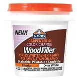 Elmer's E915 Carpenter's Color Change Wood Filler, White, 4 oz