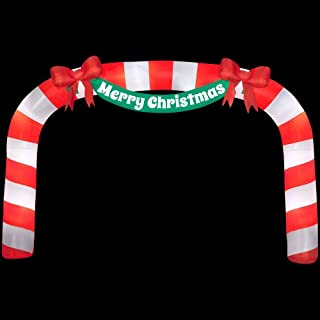276.38 in. W x 39.37 in. D x 179.92 in. H Lighted Inflatable Archway Candy Cane