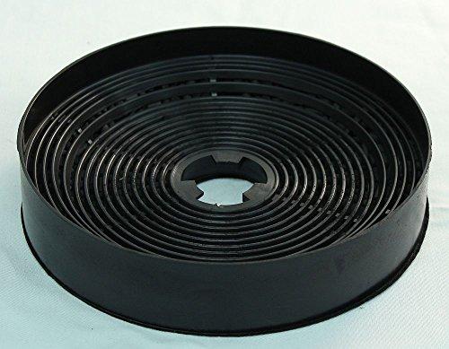 Aktivkohlefilter für AKPO 5906858512304 - Kohlefilter für Soft-Hauben WK-4 - Carbonfilter - Schwarz